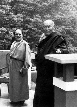 Kyabje Dudjom Rinpoche và Kangyur Rinpoche