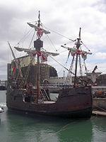 H.5 Chiếc tàu buồm (tái tạo) Santa Maria (Thánh Maria) của Christophe Colomb