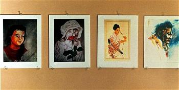 "This 03 February photo shows works by Jaturun ""Jay"" Siripongs"