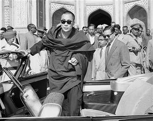 The 14th Dalaim Lama arriving in India after his exile