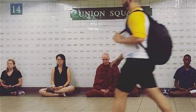 Class in the Union Square subway station