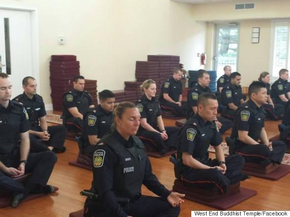 police officer meditation in Canada