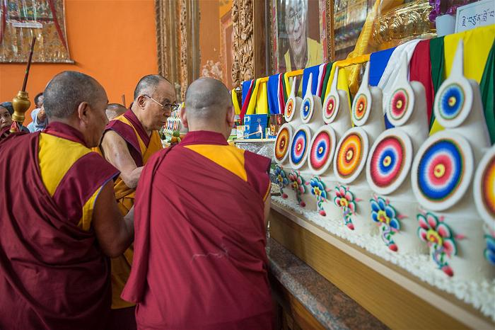 Dalai Lama at the new Tashi Lhunpo Monastery 6