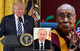 dalai lama and Trump with Putin