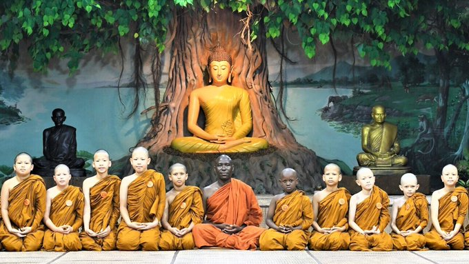 First Buddhist Monk in Uganda, Africa 2