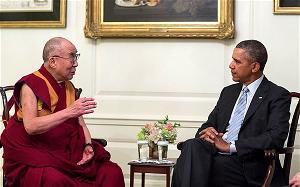 dalai lama and Obama at white house