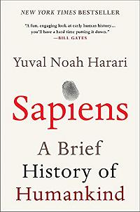 Sapiens A brief history of humankind - book cover