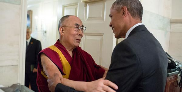 Obama and Dalai Lama