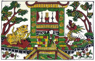 Tranh 6. Diệu Thiện ở chùa Bạch Tước
