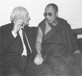 The 14th Dalai Lama with his tutor Heinrich Harrer