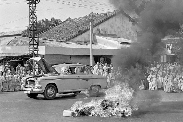 Quang Duc's self-immolation was done to protest alleged persecution of Buddhists by the South Vietnamese government.