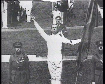 7th Olympics Antwerp 1920 - Olympic Oath, Victor Boin, france  OnlineFootage