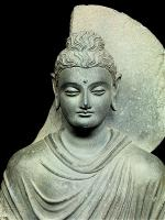 Standing Shakyamuni Buddha, Gandhara Kushan dynasty, second to third century. From ckh.com.hk