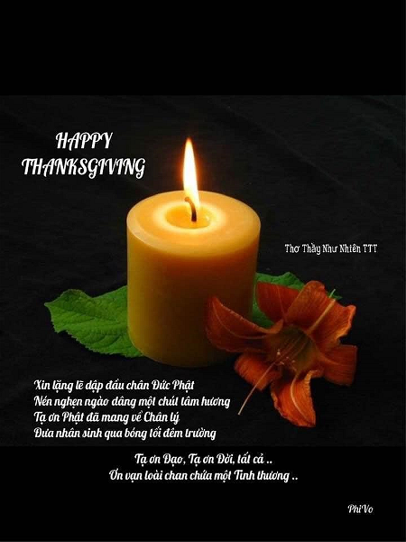 happy thanksgiving - thich tanh tue