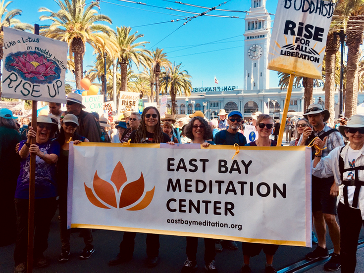 Hundreds of Buddhists join San Francisco climate march 3