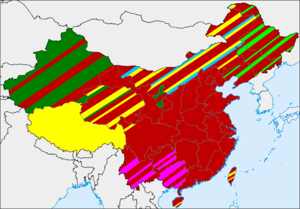 Geographic distribution of religions in China